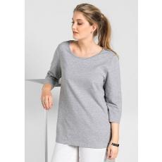 Damen Basic Sweatshirt SHEEGO BASIC grau 48,52,56