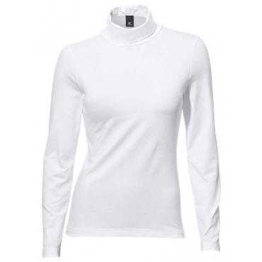 Damen by Rollkragen-Shirt Langarm PATRIZIA DINI by Heine weiß 48