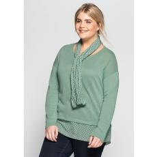 Damen Casual Strickpullover SHEEGO CASUAL grün 48,52,56