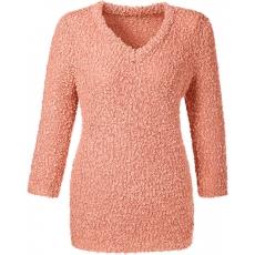 Damen Classic Basics Pullover mit originellem Strickmuster CLASSIC BASICS rosa 48,50,52,54,56