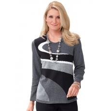 Damen Classic Basics Pullover mit Rundhals-Ausschnitt CLASSIC BASICS grau 48,50,52,54,56