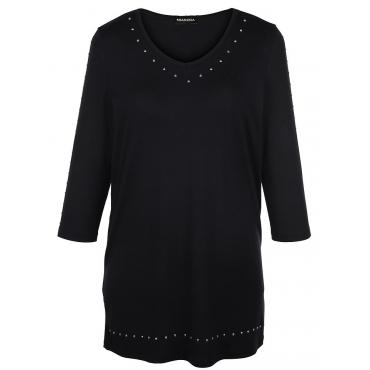 Damen MIAMODA Longshirt mit Nieten MIAMODA schwarz 48,50,52,54,56,58,60