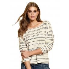 Damen Pullover im Ringeldessin Alba Moda transparent 48