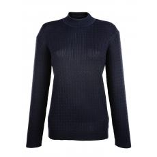 MONA Damen Mona Pullover aus hochwertiger PIMA Baumwolle blau 48,50,52