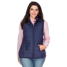 SHEEGO CASUAL Damen Casual Steppweste blau 48,50,52,54,56,58