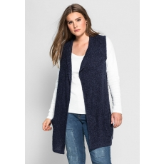 SHEEGO CASUAL Damen Casual Strickweste blau 48,52