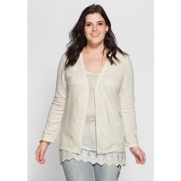 SHEEGO STYLE Damen Style Strickjacke weiß 48,52,56