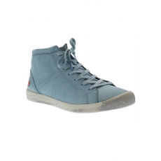 SOFTINOS softinos Sneaker high Isleen washed leather SS17 blau 37,39,41,43