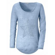 Tamaris Damen Vokuhila-Pullover blau 46