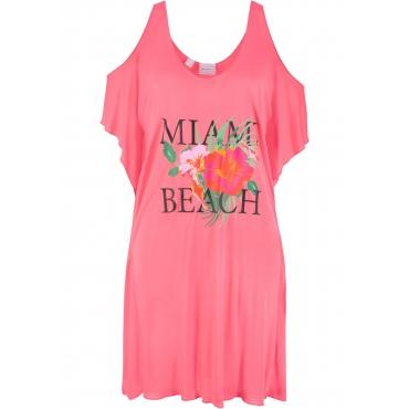 Strandkleid halber Arm  in pink für Damen von bonprix