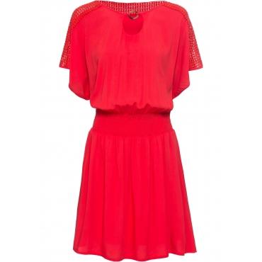 Sommerkleid kurzer Arm  in rot für Damen von bonprix