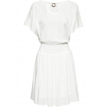 Sommerkleid kurzer Arm  in weiß für Damen von bonprix
