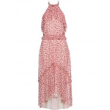 Neckholder-Kleid ohne Ärmel  in rosa für Damen von bonprix