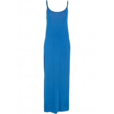 Maxikleid mit Schlitz ohne Ärmel  in blau für Damen von bonprix