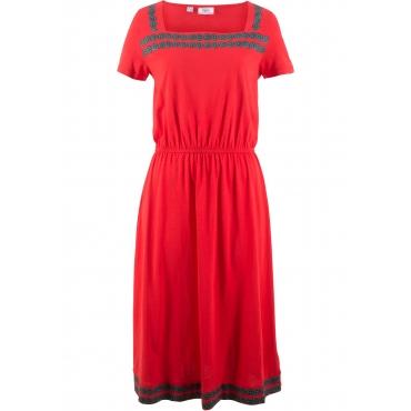 1/2-Arm Shirtkleid in rot von bonprix