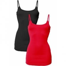 2er-Pack Tops ohne Ärmel  in rot für Damen von bonprix