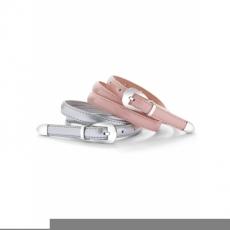 2er-Set Gürtel Metallic in rosa für Damen von bonprix