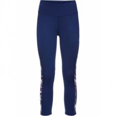 3/4-Sport-Leggings mit Kontrasteinsätzen in blau für Damen von bonprix
