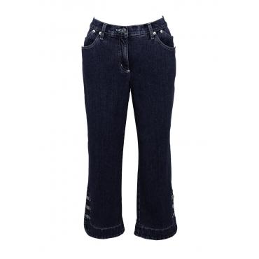 3/4-Stretchjeans in blau für Damen von bonprix