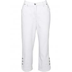 3/4-Stretchjeans in weiß für Damen von bonprix