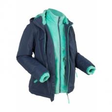 3-in-1-Funktions-Outdoorjacke mit Innenjacke aus Kuschelfleece langarm  in blau für Damen von bonprix