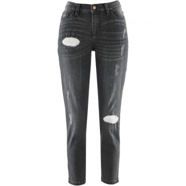 7/8-Girlfriend-Jeans - designt von Maite Kelly in grau für Damen von bonprix