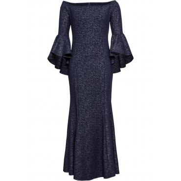 Abend-Carmen-Kleid in blau für Damen von bonprix