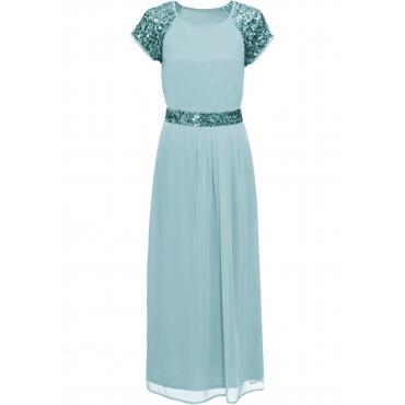 Abend-Maxikleid kurzer Arm  in blau für Damen von bonprix