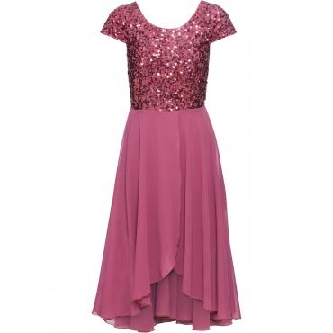 Abend-Vokuhila-Kleid kurzer Arm  in lila für Damen von bonprix
