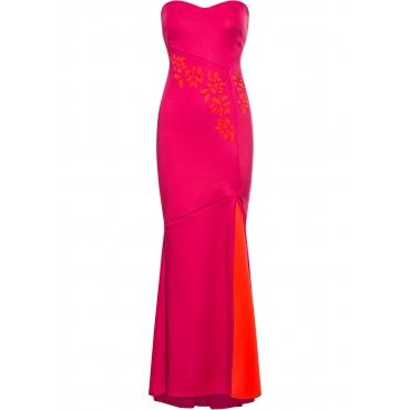 Abendkleid  mit Cut Outs ohne Ärmel  in pink für Damen von bonprix