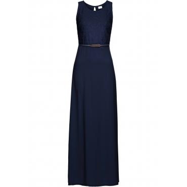 Abendkleid mit Gürtel ohne Ärmel  in blau  von bonprix
