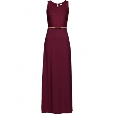 Abendkleid mit Gürtel ohne Ärmel  in rot von bonprix