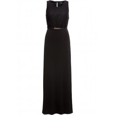 Abendkleid mit Gürtel ohne Ärmel  in schwarz  von bonprix