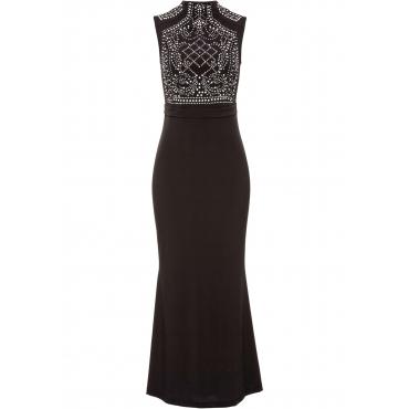 Abendkleid ohne Ärmel  in schwarz (Rundhals)  von bonprix