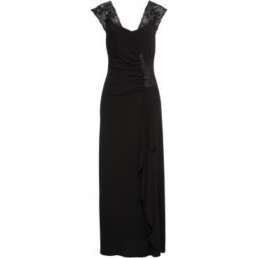 Abendkleid ohne Ärmel  in schwarz (V-Ausschnitt)  von bonprix