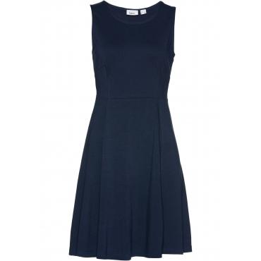 Ärmelloses Jerseykleid ohne Ärmel  in blau für Damen von bonprix