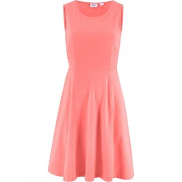 Ärmelloses Jerseykleid ohne Ärmel  in rosa für Damen von bonprix