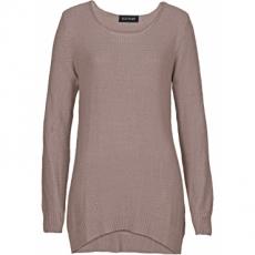 Ajour-Pullover langarm  in grau für Damen von bonprix