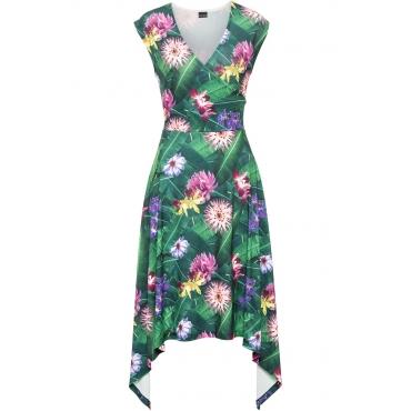 Asymmetrisches Kleid in grün von bonprix