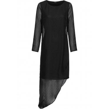Asymmetrisches Kleid langarm  in schwarz für Damen von bonprix