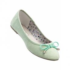 Ballerina in grün für Damen von bonprix