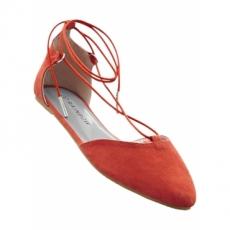 Ballerina in orange für Damen von bonprix