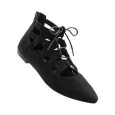 Ballerina in schwarz für Damen von bonprix