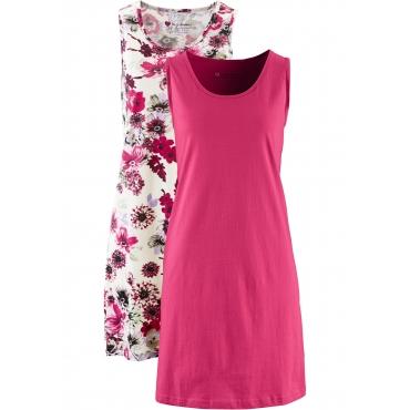 Jerseykleid (2er-Pack) ohne Ärmel  in grau für Damen von bonprix