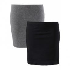 Basic Baumwollrock Stretch-Jersey in grau für Damen von bonprix