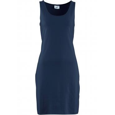 Stretch-Jerseykleid ohne Ärmel  in blau für Damen von bonprix