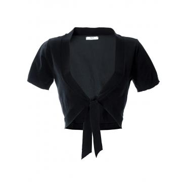 Basic Feinstrick-Bolero in schwarz für Damen von bonprix