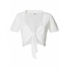 Basic Feinstrick-Bolero in weiß für Damen von bonprix