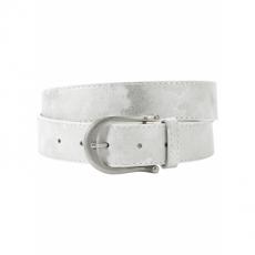 Basic Gürtel Metallic in weiß für Damen von bonprix