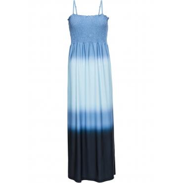 Batik-Maxikleid ohne Ärmel  in blau für Damen von bonprix